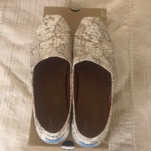 Toms Voyage Map shoes